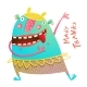 Dancing Showing Cheerful Monster for Children - GraphicRiver Item for Sale