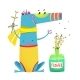 Sitting Monster with Flower Bottle - GraphicRiver Item for Sale