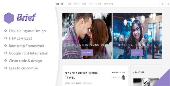 Brief & Blog – Personal Blog Template