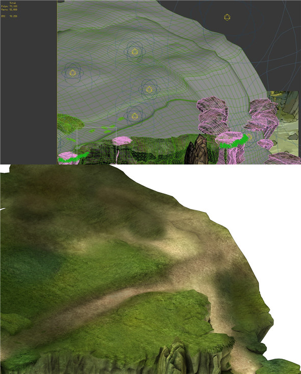 Game Model - Forest - Mountain Road 02 - 3DOcean Item for Sale
