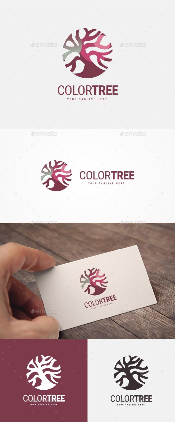 Color Tree Logo - Nature Logo Templates
