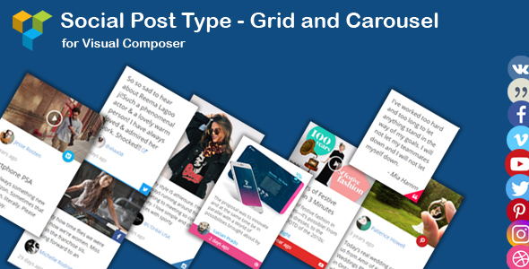 WPBakery Page Builder - Social News Post Type Grid and Carousel (formerly Visual Composer) - CodeCanyon Item for Sale