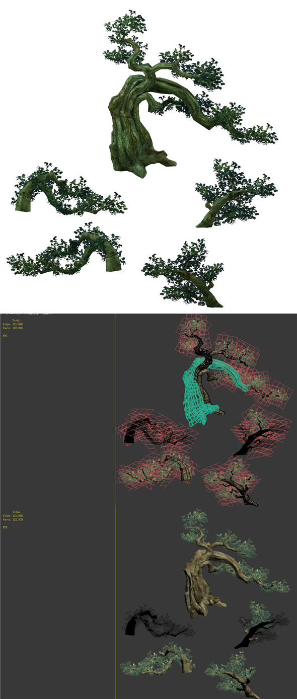 Game Model - Forest - Tree - 3DOcean Item for Sale