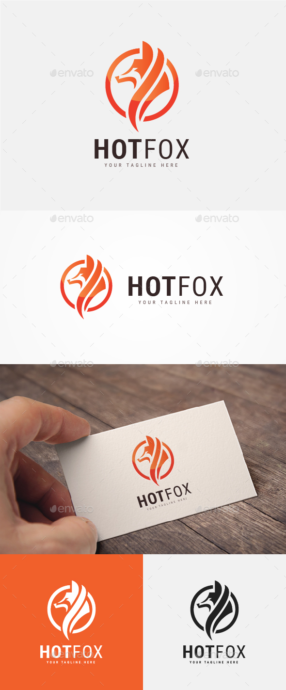 Hot Fox Logo - Animals Logo Templates