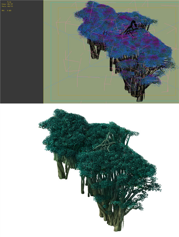 Game Model - Forest - Tree 03 - 3DOcean Item for Sale