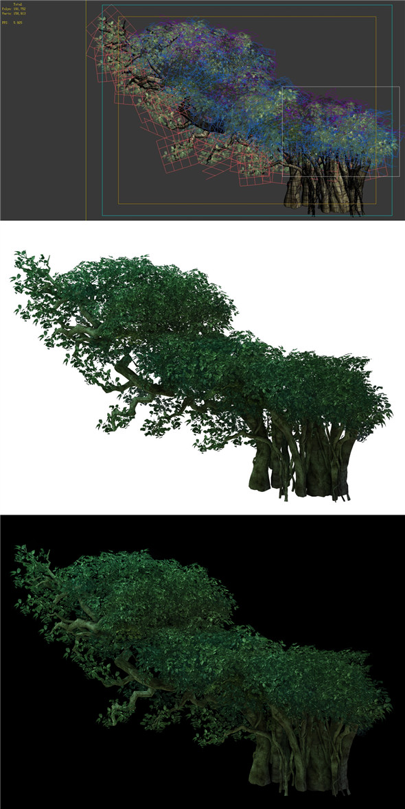 Game Model - Forest - Tree 05 - 3DOcean Item for Sale