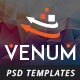 Venum One Page Creative Multipurpose PSD Template Nulled