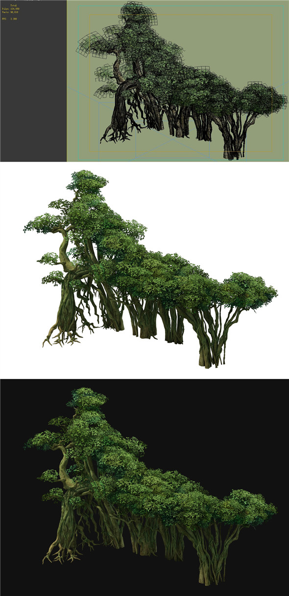 Game Model - Forest - Tree 10 - 3DOcean Item for Sale