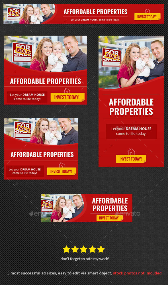 Property For Sale Banner - Banners & Ads Web Elements