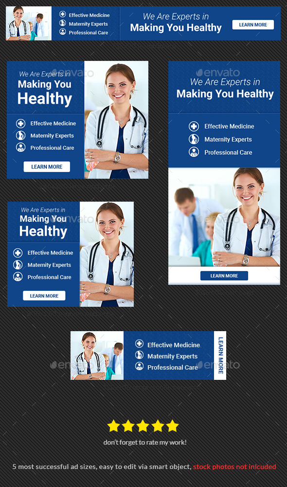Healthcare PSD Banner Ad - Banners & Ads Web Elements