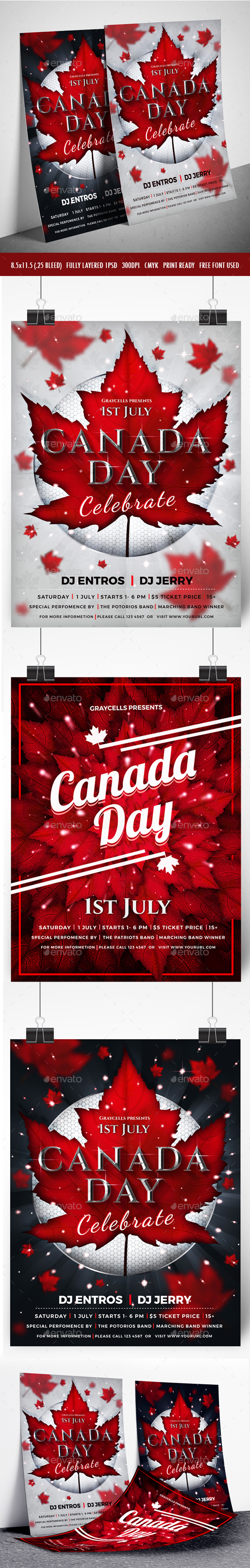 3 Canada Day Flyer - Events Flyers