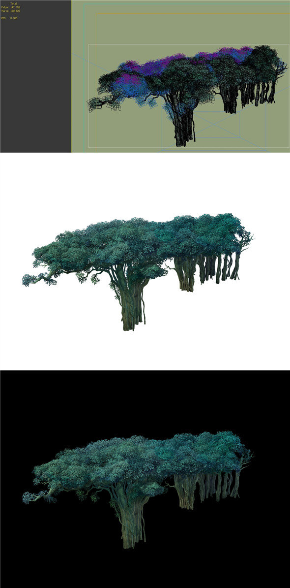 Game Model - Forest - Tree 12 - 3DOcean Item for Sale