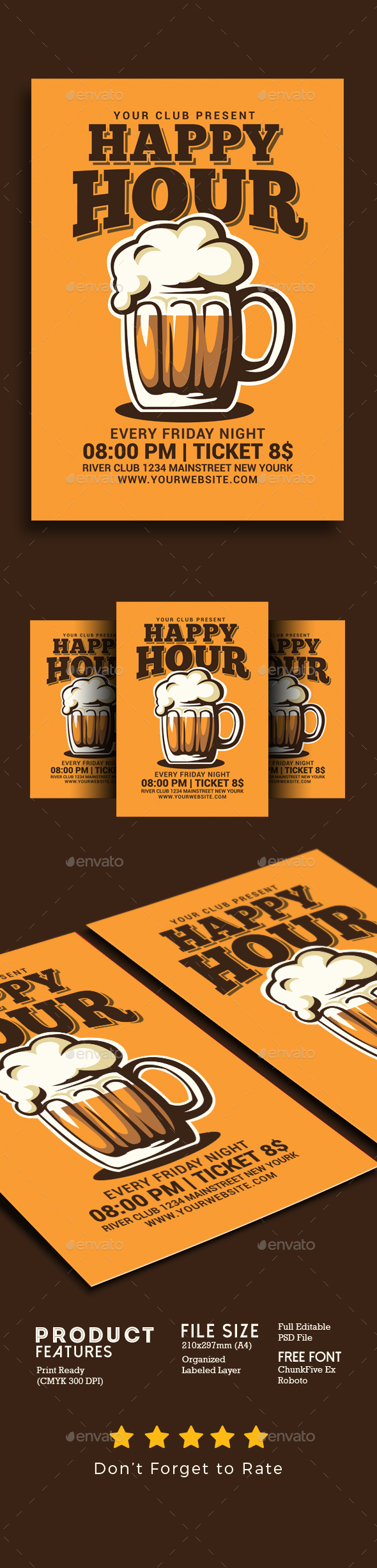 Happy Hour Beer Flyer - Events Flyers
