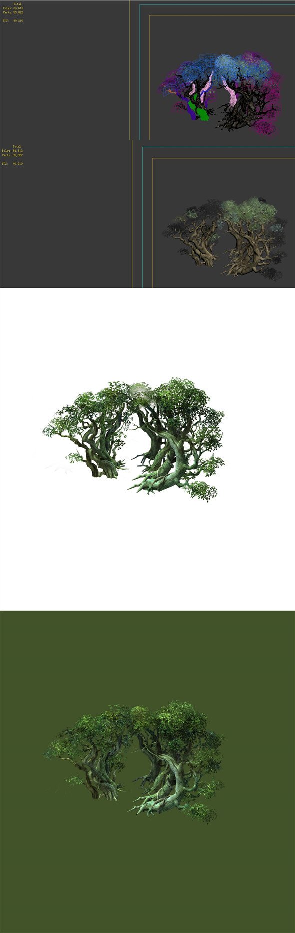 Game Model - Forest - Tree 13 - 3DOcean Item for Sale