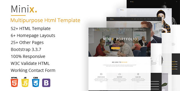 Minix. Multipurpose HTML5 Template