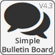 Simple Bulletin Board - Bootstrap Edition