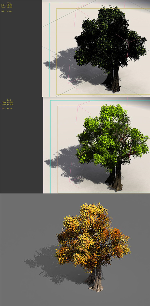 Game Models - Forest - Trees 08 - 3DOcean Item for Sale