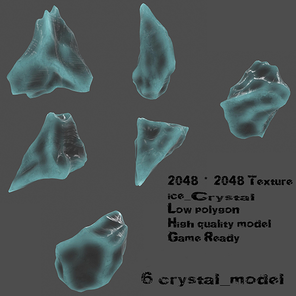 ice crystal set - 3DOcean Item for Sale