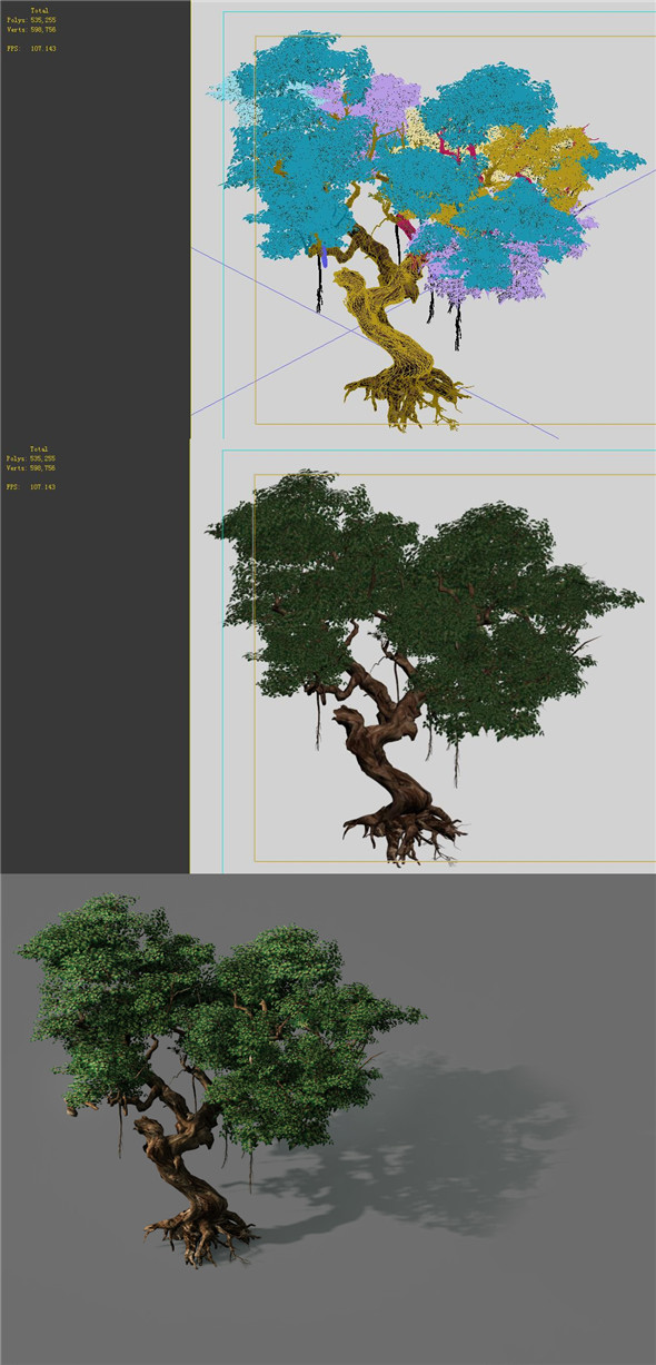 Game Models - Forest - Trees 09 - 3DOcean Item for Sale