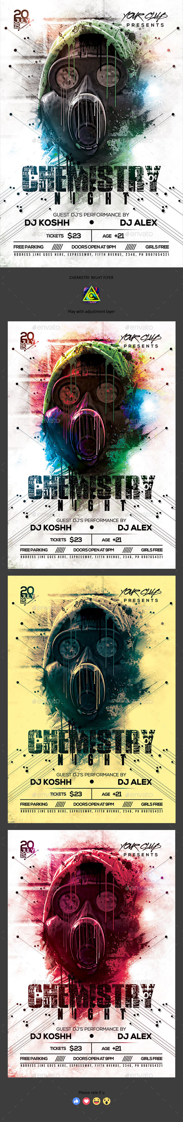 Chemistry Night Flyer - Clubs & Parties Events