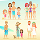 Family on the Beach - GraphicRiver Item for Sale