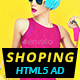 Shopping - HTML5 Animated Banner 03