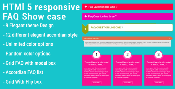 HTML5 Responsive FAQ Showcase - CodeCanyon Item for Sale