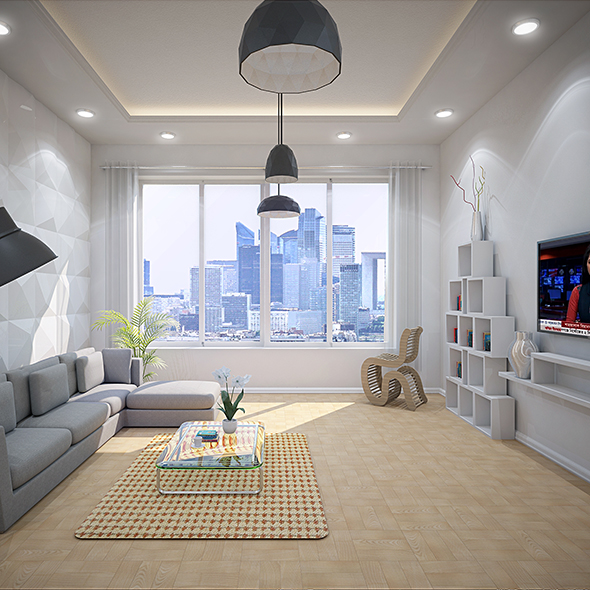Day & Night Interior Sense with PSD - 3DOcean Item for Sale