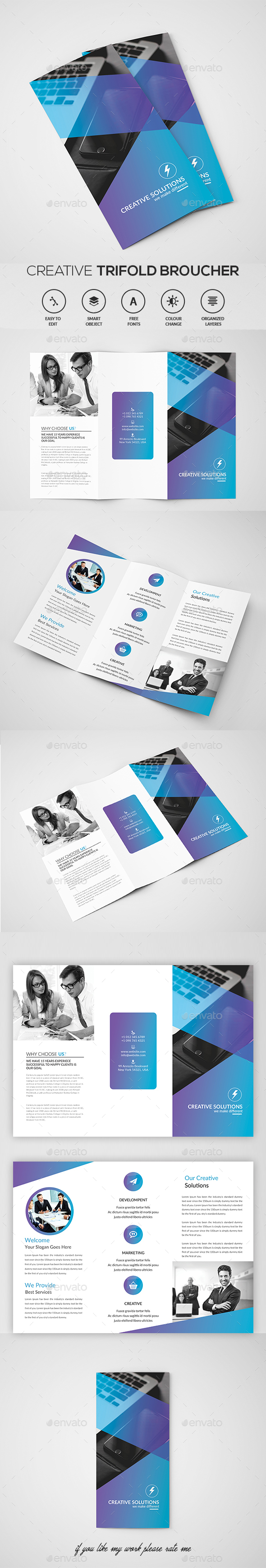 Business Trifold Brochure - Brochures Print Templates