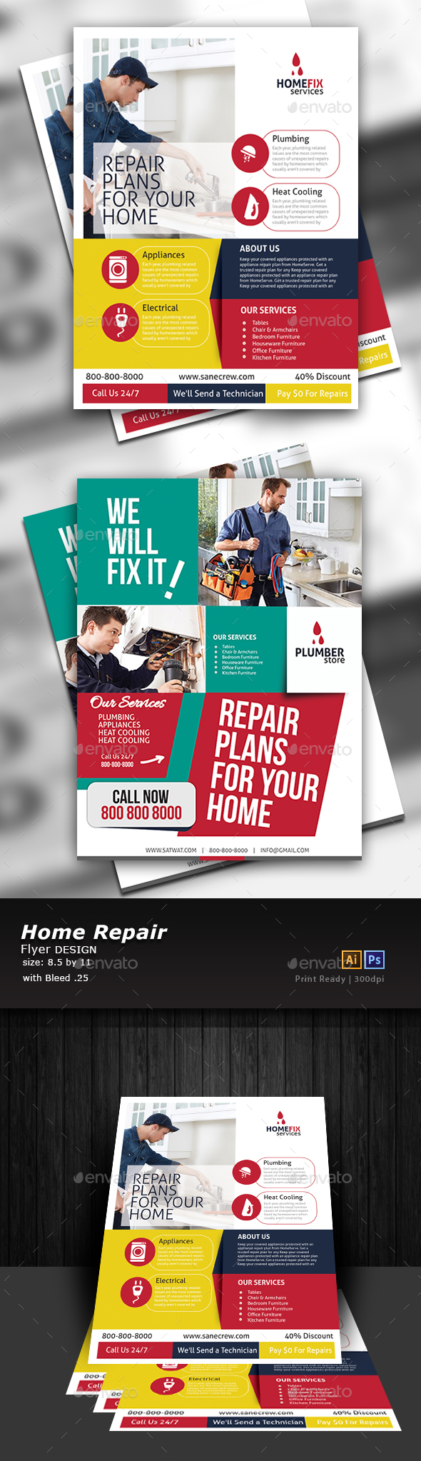 Home Repair Flyer Template - Commerce Flyers