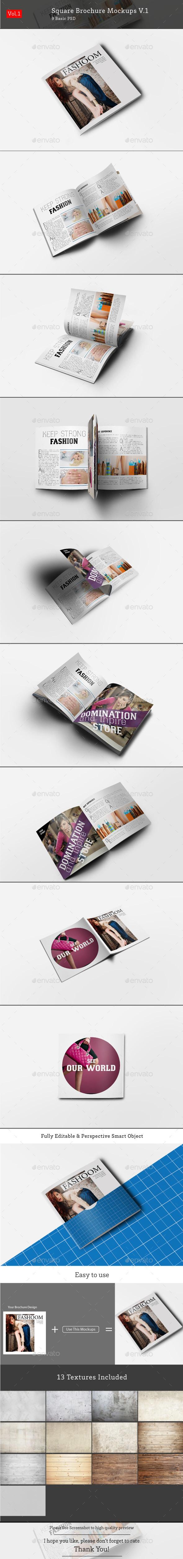 Square Brochure Mockups V.1 - Brochures Print