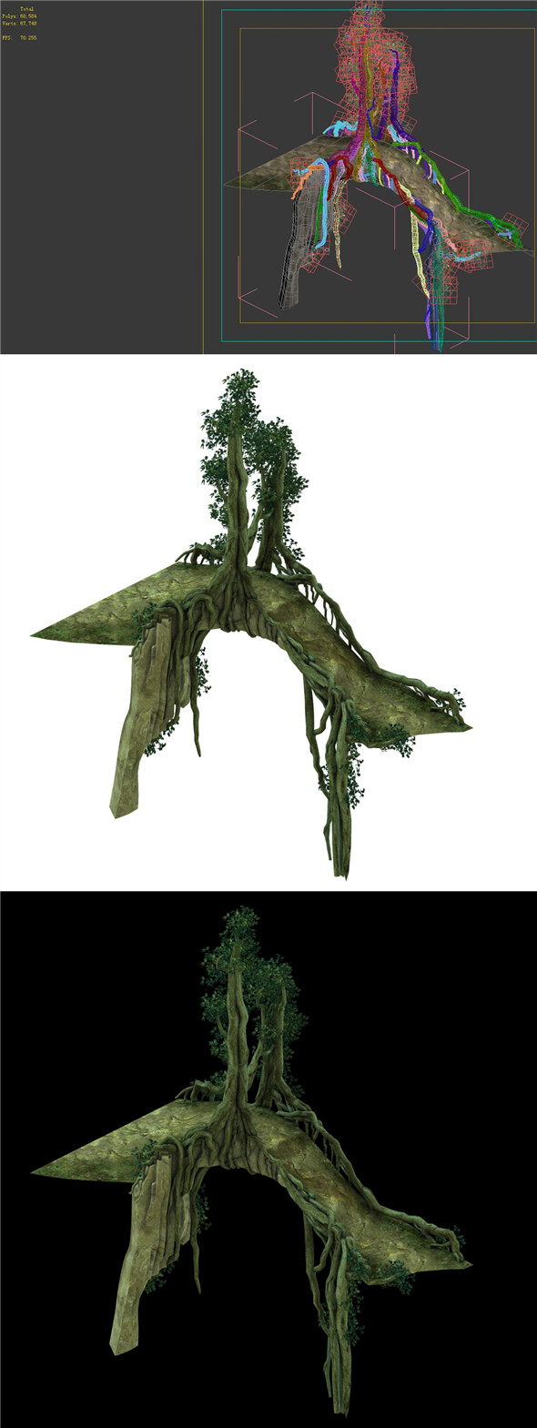 Game Model - Forest - Tree Bridge 01 - 3DOcean Item for Sale