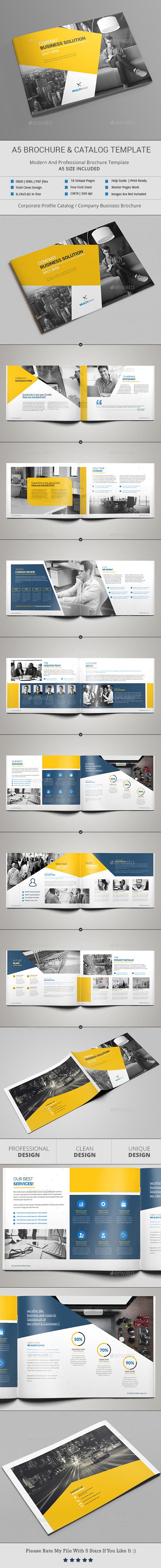 A5 Brochure & Catalog - Brochures Print Templates