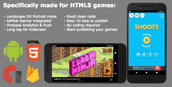 Easiest Android Webview For HTML5 Games (AdMob & Firebase) - CodeCanyon Item for Sale