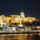 Night Budapest and the Royal Palace in the Background - VideoHive Item for Sale
