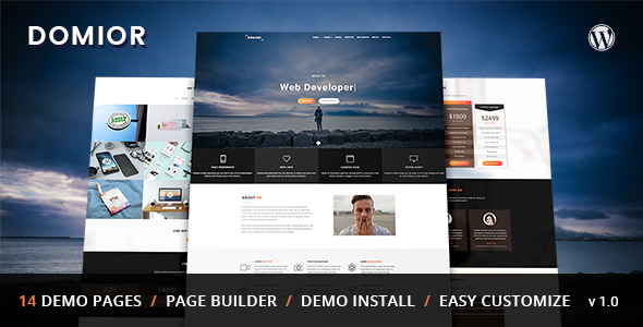 Download Domior - Creative Personal Portfolio WordPress Theme