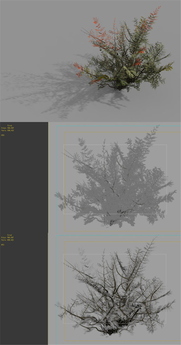 Game Model - Forest - Weed - 3DOcean Item for Sale