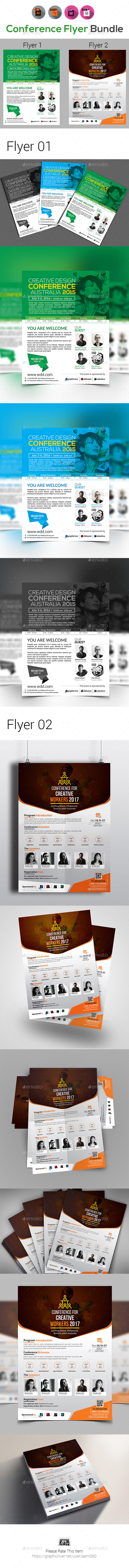 Event Summit Conference Flyer Templates - Corporate Flyers