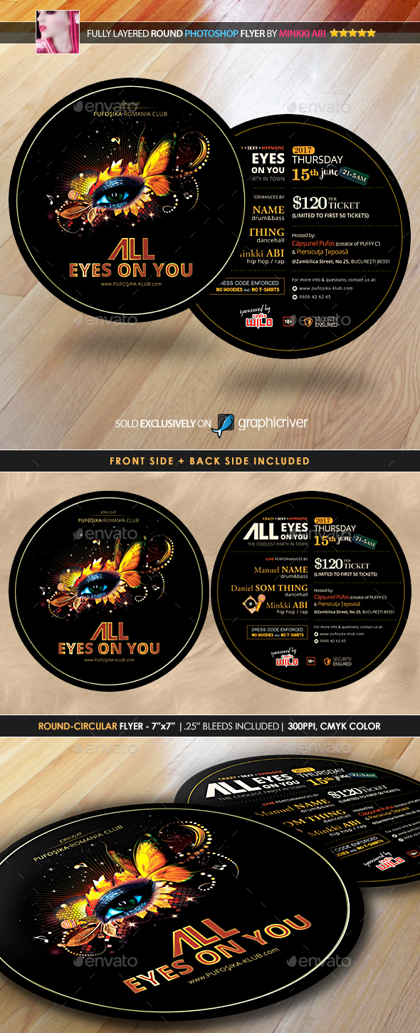 All Eyes On You Poster/Flyer - Events Flyers
