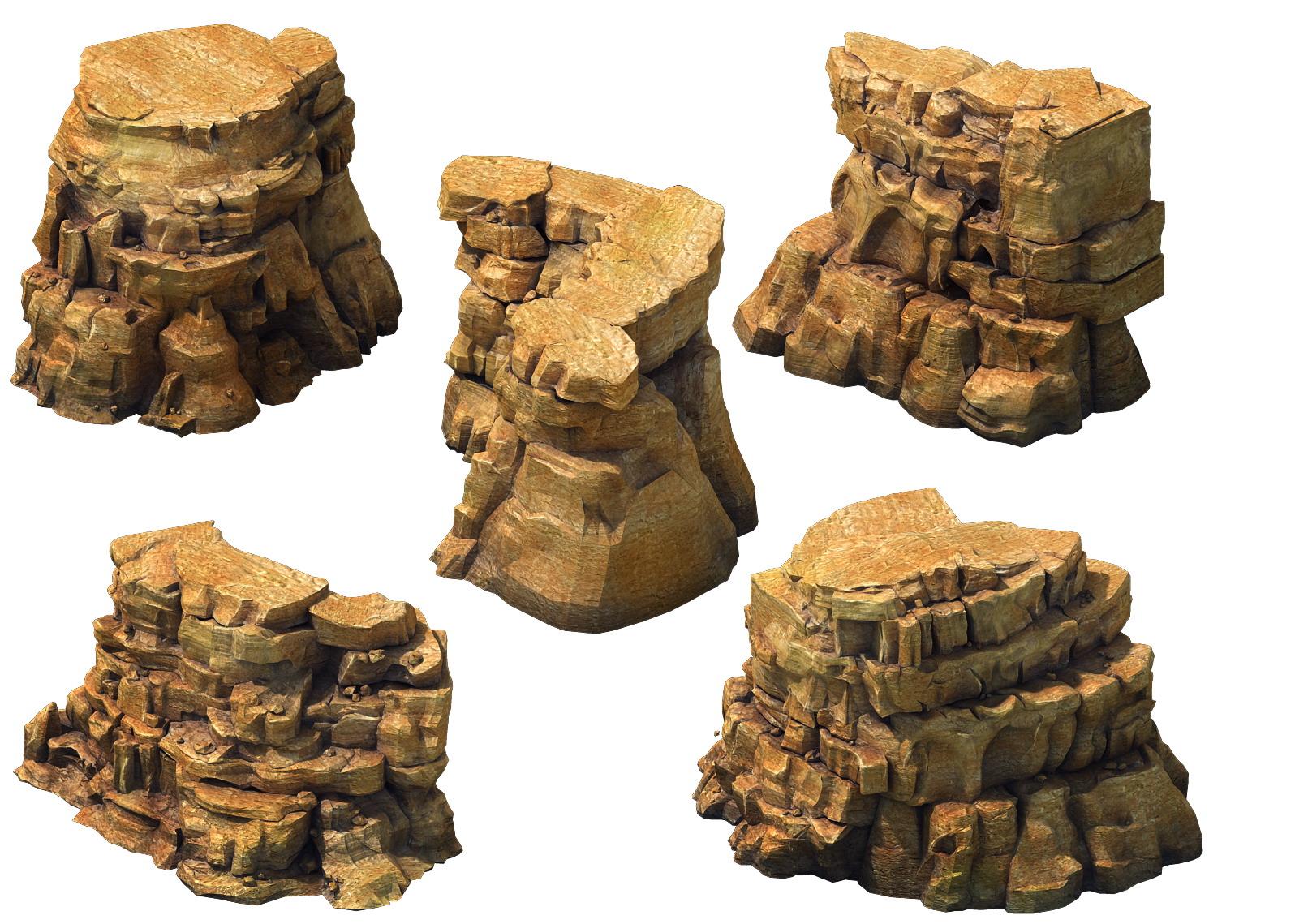 Game Model - Desert Gobi - Wind Stone 23