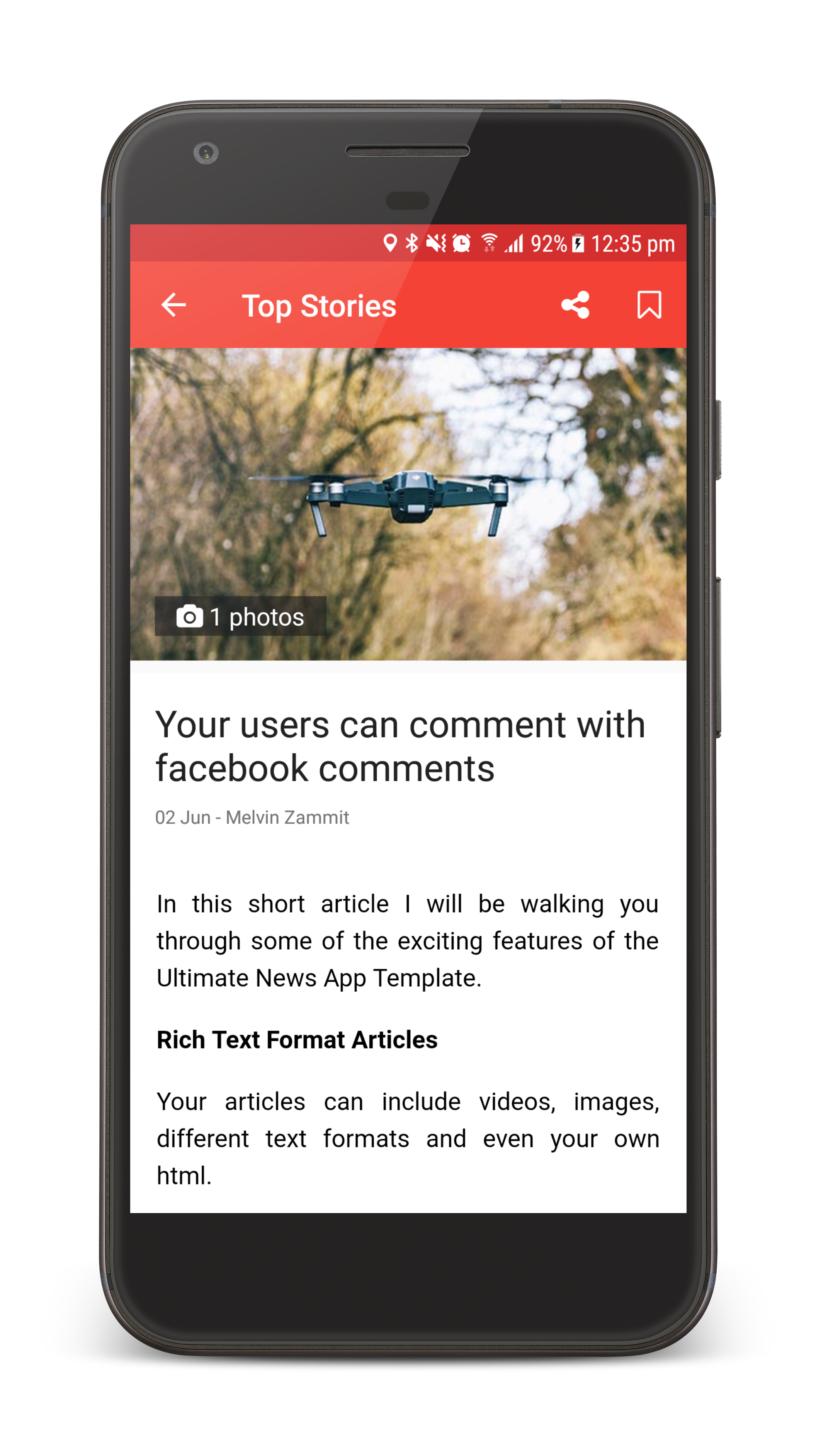 the ultimate news app template by neurondigital