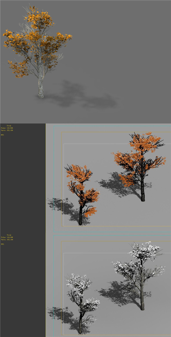 Game Model - Desert - Trees 03 - 3DOcean Item for Sale