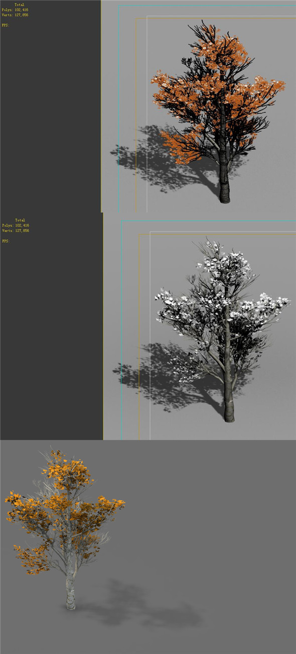 Game Models - Desert - Trees 04 - 3DOcean Item for Sale