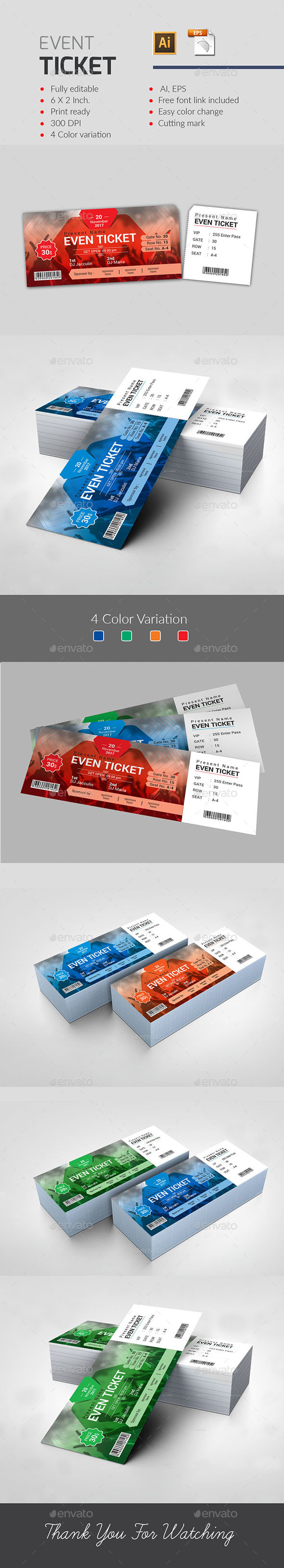 Event Ticket - Events Flyers