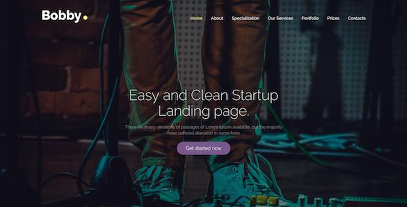 Bobby - Creative Service Landing Page Drupal 8 Theme