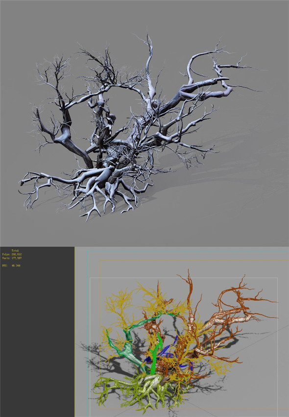 Game Model - Snow - Dead Tree 01 - 3DOcean Item for Sale