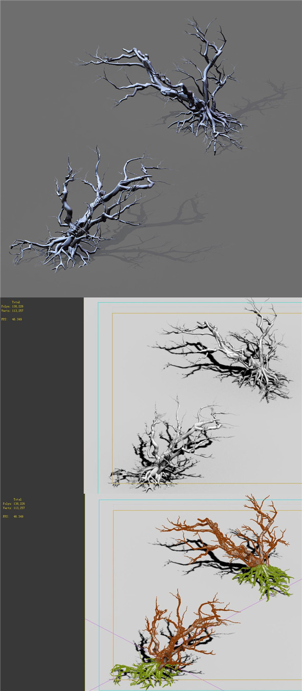 Game Model - Snow - Dead Tree 02 - 3DOcean Item for Sale