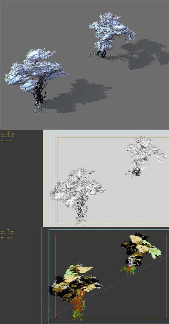 Game Model - Snow - Dead Tree 03 - 3DOcean Item for Sale