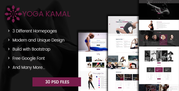 Kamal – Yoga eCommerce PSD Template