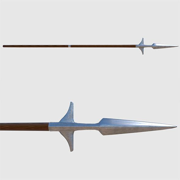 Winged Spear - Game Ready - 3DOcean Item for Sale